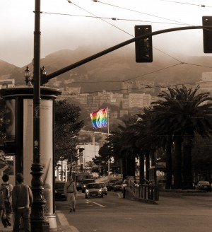 Gay pride parade in the Castro neighborhood