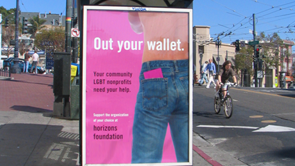 "Horizons' ""Out Your Wallet"" 1995 campaign."