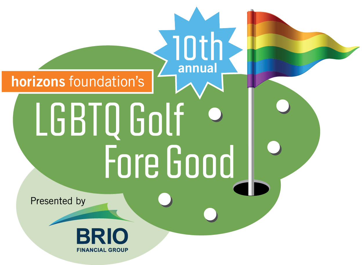 logo for 10th Annual LGBTQ Golf Fore Good