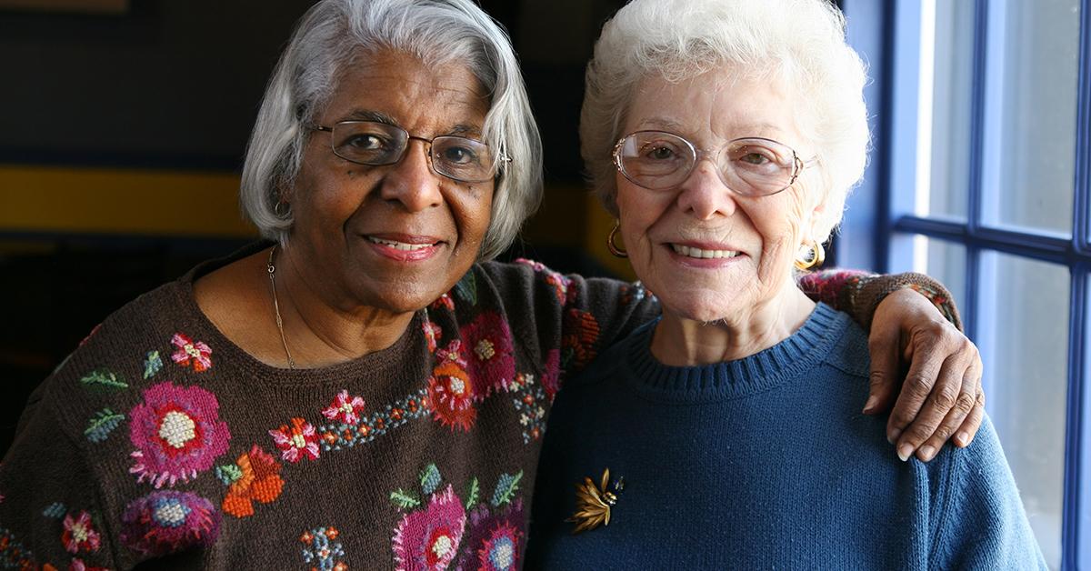 photo of two elderly women