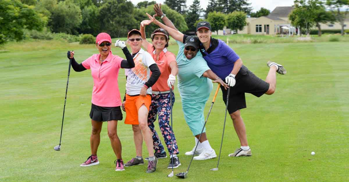 photo of golfers at previous LGBTQ Golf Fore Good