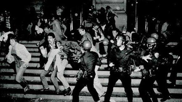 Photo of police raid at Stonewall