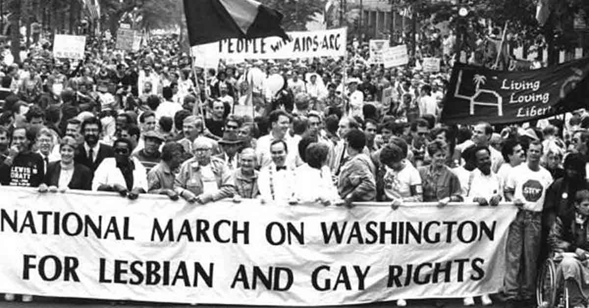 Photo from 1987 March on Washington