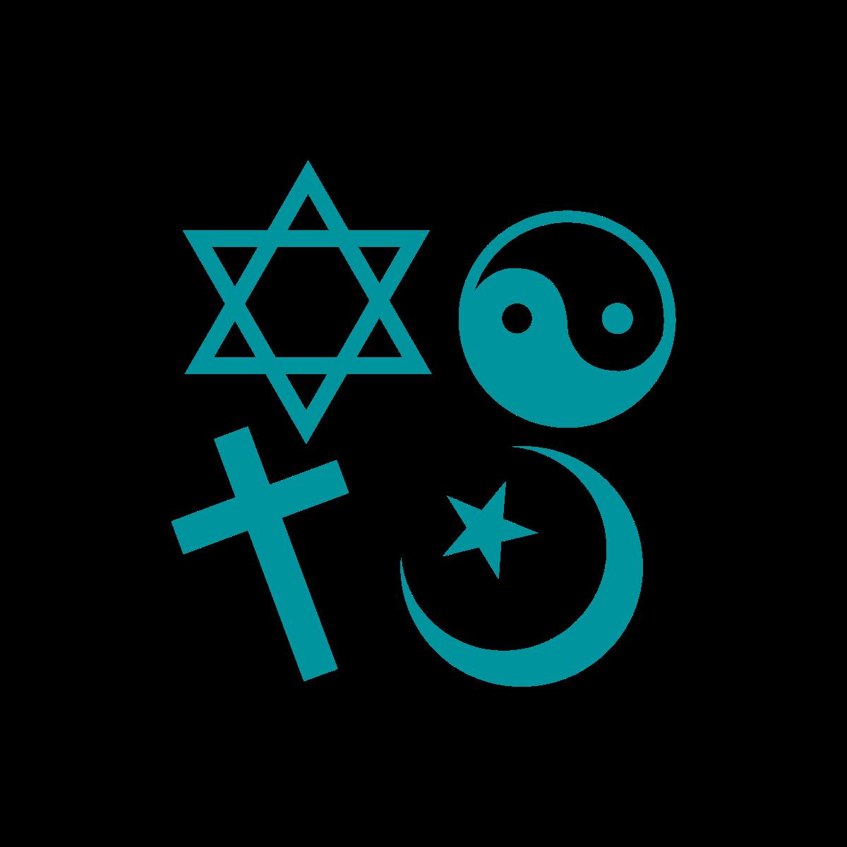 Icon of religious symbols