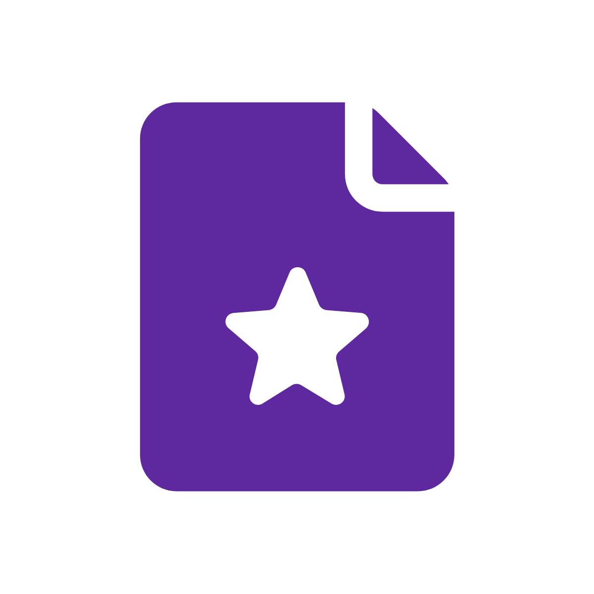 Icon of paper with star on it