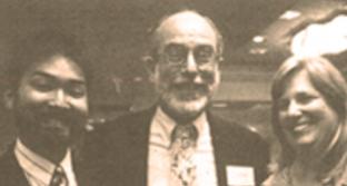 1995 Board Chair Stan Yogi, Arthur Lazere, and Cheri Bryant celebrate at the Horizons' 15 year anniversary event.