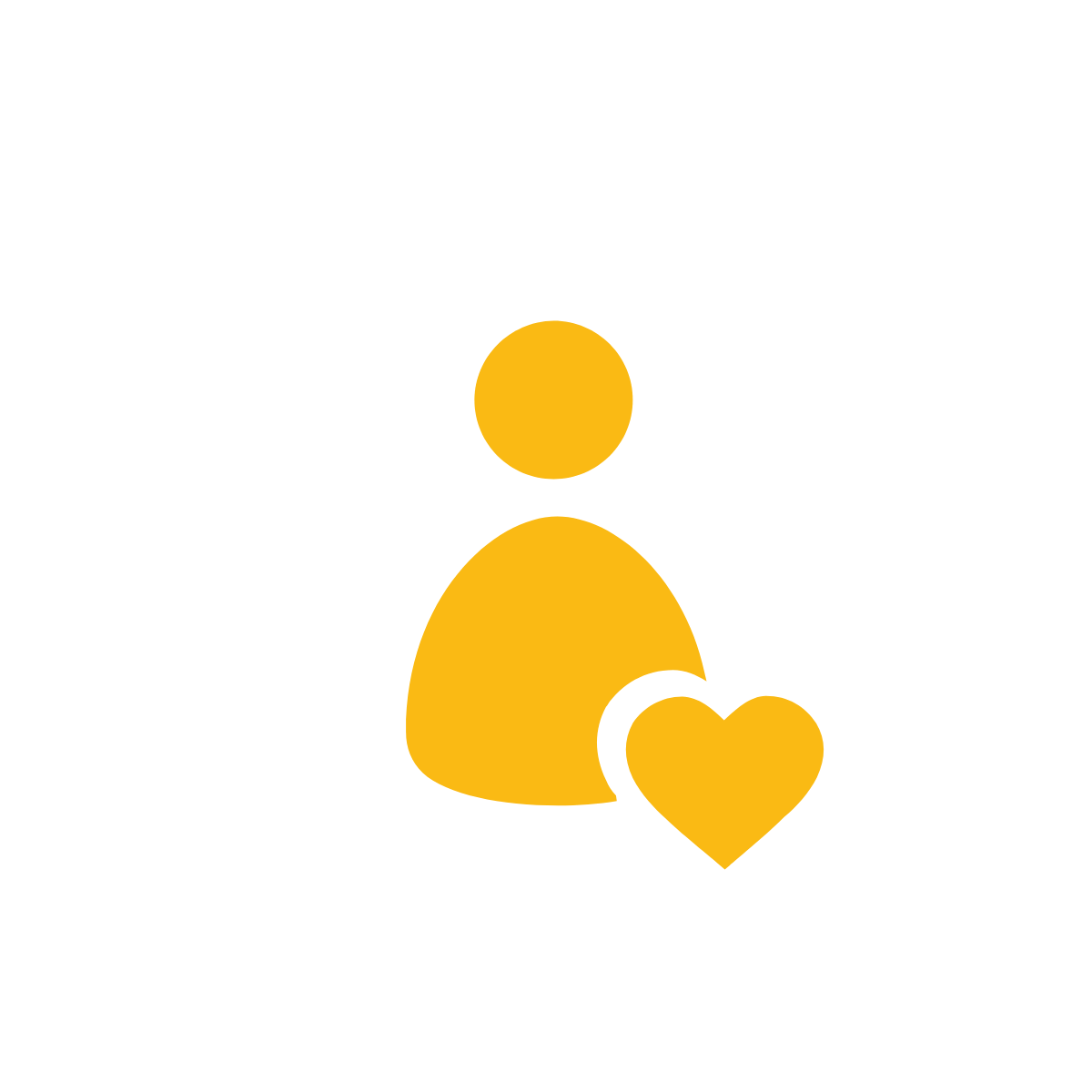 Icon of person with heart