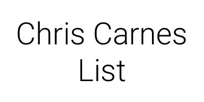 Chris Carnes List logo